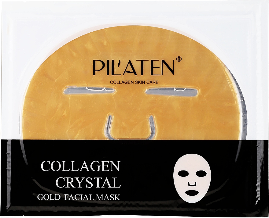 Masque tissu au collagène pour visage - Pilaten Collagen Crystal Gold Facial Mask — Photo N1