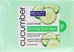 Parfums et Produits cosmétiques Lingettes nettoyantes démaquillantes au concombre - Beauty Formulas Cucumber Cleansing Facial Wipes