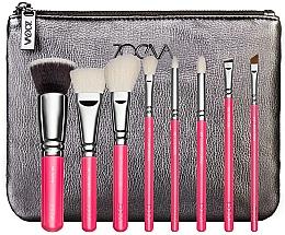 Parfums et Produits cosmétiques Kit pinceau de maquillage - ZOEVA Pink Elements Classic Set (8 pinceaux + trousse de toilette)