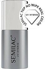 Parfums et Produits cosmétiques Top coat sans résidu pour vernis semi-permanent - Semilac Top No Wipe Real Color