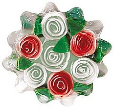 Parfums et Produits cosmétiques Savon à la glycérine Corbeille de roses, blanc-rouge - Bulgarian Rose Soap