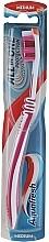 Parfums et Produits cosmétiques Brosse à dents, médium, rose-blanc - Aquafresh All In One Protection