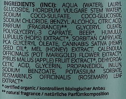 Shampooing à la bière, miel et chanvre - GRN Essential Elements Volume Shampoo Beer & Honey & Hemp Shampoo — Photo N2