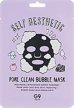 Parfums et Produits cosmétiques Masque tissu à bulles à l'extrait de théier pour visage - G9Skin Self Aesthetic Poreclean Bubble Mask