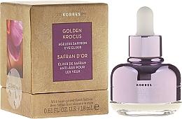 Parfums et Produits cosmétiques Élixir anti-âge pour le contour des yeux - Korres Golden Krocus Ageless Eye Elixir