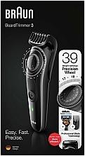 Parfums et Produits cosmétiques Tondeuse à barbe et moustache, noir - Braun BeardTrimmer3 BT3242