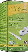 Parfums et Produits cosmétiques Tampons en coton bio avec applicateur, Regular, 16pcs - Masmi Silver Care