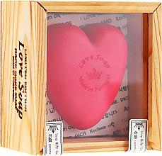 Parfums et Produits cosmétiques Savon naturel en forme de cœur - Essencias De Portugal Love Soap Wooden Box (dans une boîte)