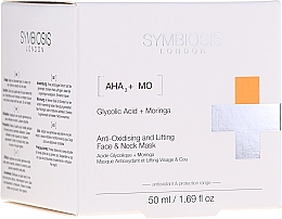 Parfums et Produits cosmétiques Masque antioxydant à l'acide glycolique pour visage et cou - Symbiosis London Anti-oxidising And Lifting Face & Neck Mask