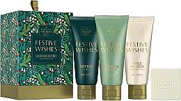 Parfums et Produits cosmétiques Scottish Fine Soaps Festive Wishes Luxurious Gift Set - Set (gel douche/75ml + beurre pour corps/75ml + crème pour mains/75ml + savon/40g)