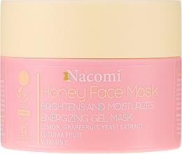 Parfums et Produits cosmétiques Masque gel énergisant, éclaircissant et hydratant au miel pour visage - Nacomi Honey Face Gel-Mask