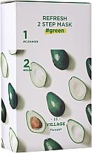 Parfums et Produits cosmétiques Masque bi-phasé à l'extrait d'avocat pour visage - Village 11 Factory Refresh 2-Step Mask Green