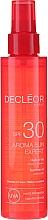 Parfums et Produits cosmétiques Huile solaire waterproof pour corps et cheveux - Decleor Aroma Sun Expert Summer Oil Spf30