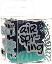 Parfums et Produits cosmétiques Élastique à cheveux, bleu + turquoise, 4 pcs - Hair Springs