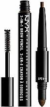 Parfums et Produits cosmétiques Crayon à sourcils multifonctionnel - NYX Professional Makeup 3-in-1 Brow Pencil
