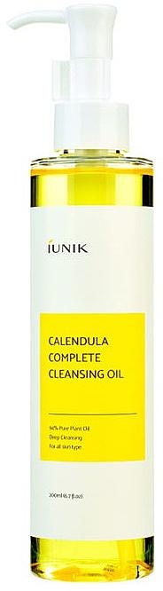 Huile nettoyante à l'extrait de calendula pour visage - IUNIK Calendula Complete Cleansing Oil
