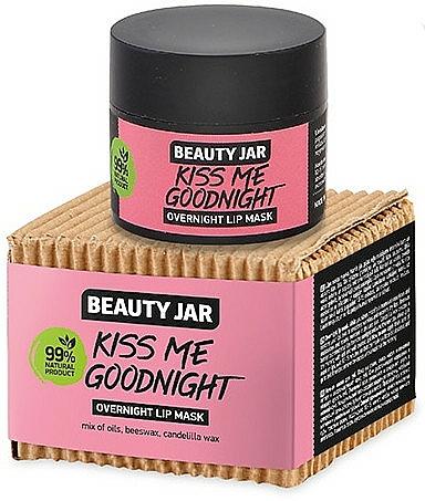 Masque de nuit à la cire d'abeille pour lèvres - Beauty Jar Kiss Me Goodnight Overnight Lip Mask