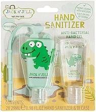 Parfums et Produits cosmétiques Jack N' Jill Hand Sanitizer Dino - Set (gel désinfectant pour mains/2x29 ml + étui)