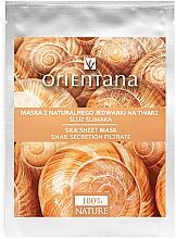 Parfums et Produits cosmétiques Masque tissu en soie naturelle au mucus d'escargot pour visage - Orientana Silk Cloth Face Mask Snail Secretion