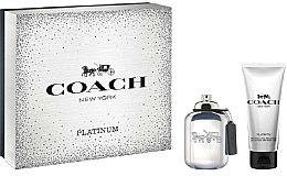 Parfums et Produits cosmétiques Coach Platinum - Coffret (eau de parfum 60ml + gel douche 100ml)