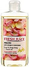 Parfums et Produits cosmétiques Huile de soin et de massage à la rose et ylang-ylang - Fresh Juice Energy Rose&Ilang-Ilang+Peach Oil