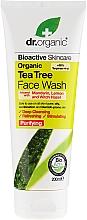 Parfums et Produits cosmétiques Gel nettoyant à l'extrait d'arbre à thé pour visage - Dr. Organic Tea Tree Face Wash
