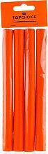 Parfums et Produits cosmétiques Bigoudis en mousse L, orange, 4 pcs - Top Choice