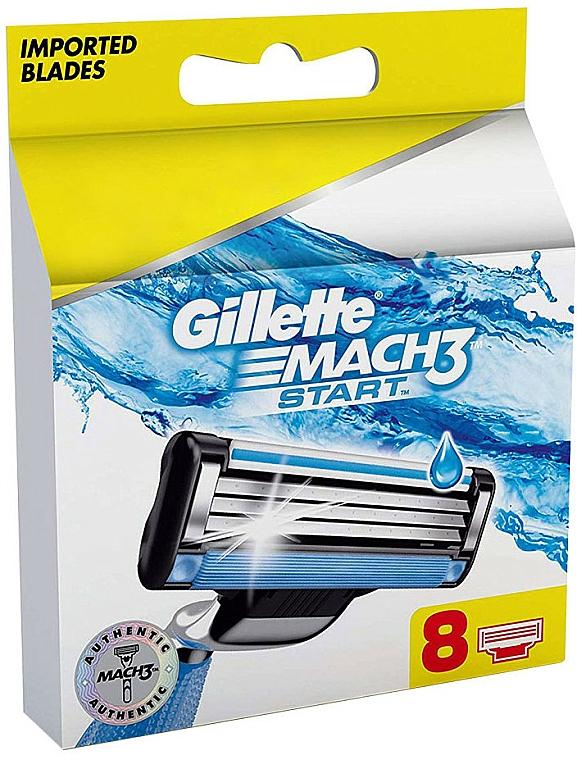Lames de rechange pour rasoir, 8pcs - Gillette Mach3 Start