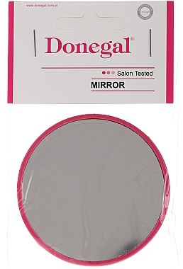 Miroir de poche rond, 9511, 7 cm, couleur framboise - Donegal
