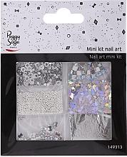 Parfums et Produits cosmétiques Kit de décorations pour ongles, 149313 - Peggy Sage Mini Kit Nail Art Argent (6pcs)