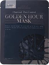 Parfums et Produits cosmétiques Masque tissu au charbon pour visage - Elroel Golden Hour Mask Charcoal Pore Control