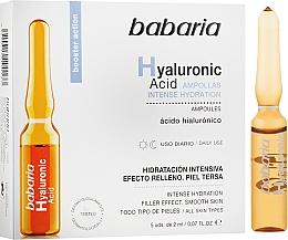 Parfums et Produits cosmétiques Ampoule à l'acide hyaluronique pour visage - Babaria Hyaluronic Acid Ampoule
