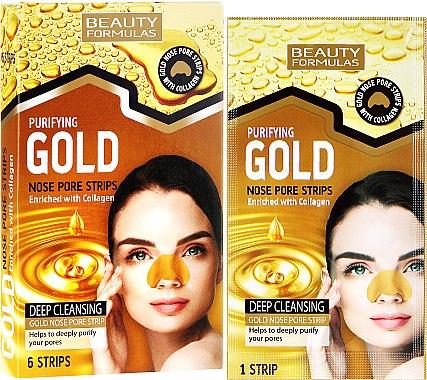 Patch purifiant anti-pores dilatés du nez - Beauty Formulas Purifying Gold Nose Pore Strips