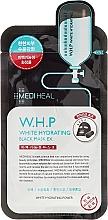 Parfums et Produits cosmétiques Masque tissu au charbon actif pour visage - Mediheal W.H.P White Hydrating Black Mask Ex