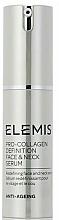Parfums et Produits cosmétiques Sérum à l'extrait d'edelweiss pour visage et cou - Elemis Pro-Collagen Definition Face & Neck Serum