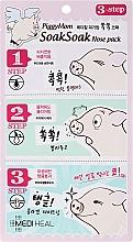 Parfums et Produits cosmétiques Masque en 3 étapes pour éliminer les points noirs - Mediheal PiggyMom SoakSoak Nose-Pack