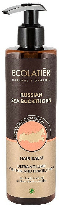 Baume à l'extrait d'argousier pour cheveux - Ecolatier Russian Sea Buckthorn Hair Balm