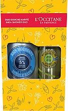 Parfums et Produits cosmétiques L'Occitane Shea Shower Duo - Set (mousse de douche / 200ml + bain moussant / 500ml)