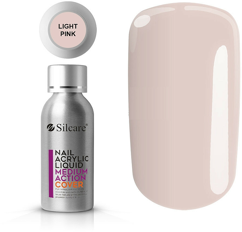 Vernis à ongles acrylique - Silcare Nail Acrylic Liquid Medium Action Cover