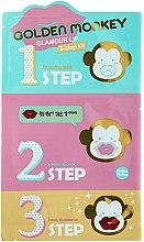 Parfums et Produits cosmétiques Traitement 3 étapes pour lèvres - Holika Holika Golden Monkey Glamour Lip 3-Step Kit
