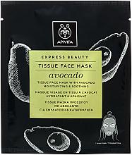 Parfums et Produits cosmétiques Masque tissu à l'avocat pour visage - Apivita Express Beauty Tissue Face Mask Avocado