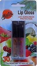 Parfums et Produits cosmétiques Malibu Lip Gloss SPF30 Set - Lot de 2 gloss à lèvres solaires