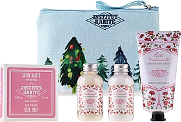 Parfums et Produits cosmétiques Coffret cadeau - Institut Karite Rose Mademoiselle (sh/gel/50ml + b/milk/50ml + h/cr/75ml + soap/100g)