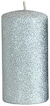 Parfums et Produits cosmétiques Bougie décorative, argent, 7x18 cm - Artman Glamour