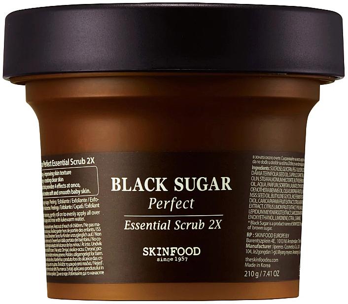 Gommage à l'extrait de sucre noir pour visage - SkinFood Black Sugar Perfect Essential Scrub 2X