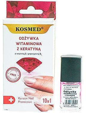 Protection vitaminée à la kératine pour ongles - Kosmed Colagen Nail Protection 10in1