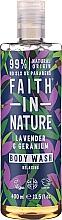 Gel douche à l'huile de lavande et de geranium - Faith in Nature Lavender & Geranium Body Wash — Photo N1