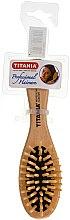Parfums et Produits cosmétiques Brosse de massage en bois pour cheveux, petite, 6 rangées - Titania