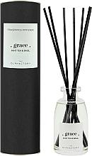 Parfums et Produits cosmétiques Bâtonnets parfumés, Thé à la menthe et Basilic, design noir - Ambientair The Olphactory Black Grace Mint Tea & Basil