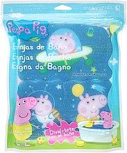 Parfums et Produits cosmétiques Set d'éponge de bain pour enfants Peppa Pig, 3 pièces , Aventure spatiale - Suavipiel Peppa Pig Bath Spong